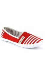 Slippers Rayures Red and White SPORT SHOES, image 02
