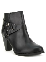 Bottine Noire simili cuir LOOT'S, image 03