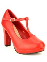 Escarpin rouge Simili cuir LOLA LOW'S, image 02