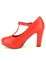 Escarpin rouge Simili cuir LOLA LOW'S, image 03