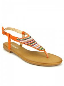 Tongs  Orange, Chaussures Femme, Cendriyon