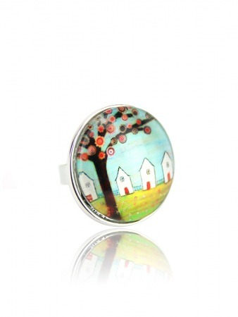 Bague Multicolore Dome Vintage PAINT