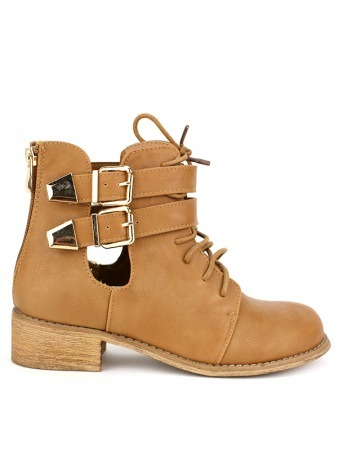 Bottine simili cuir Camel RETRANA