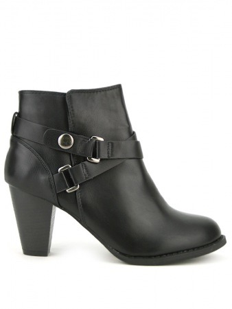 Bottine Noire simili cuir LOOT'S