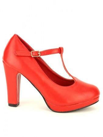 Escarpin rouge Simili cuir LOLA LOW'S