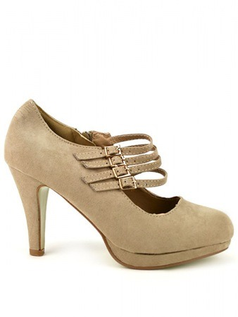 Escarpin Salomé Multi Brides Beige AXELLY