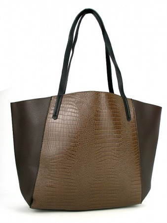 Sac Marron simili cuir ROTINA