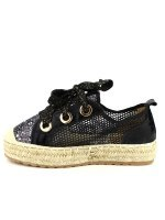 Espadrille color Noir SEASON Paillettes, image 02
