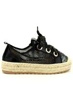 Espadrille color Noir SEASON Paillettes, image 01