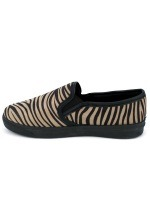 Basket Slippers ZEBRA Noir & Marron, image 02