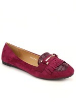 Ballerines Bordeaux