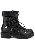 Boots Paillettes Black BELLO STAR, image 01