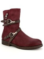 Bottines Color bordeaux WEIDES LOOK, image 03