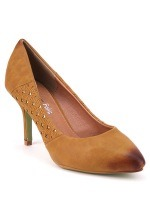 Escarpin Simili Cuir Caramel KATY Mode, image 02
