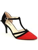 Escarpin Black and Red ML SHOES, image 03