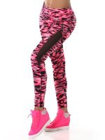 TOP & LEGGING long color camouflage Fushia, image 04