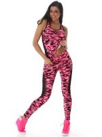 TOP & LEGGING long color camouflage Fushia, image 01