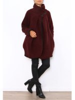 Manteau Cape Bordeaux PRETTY, image 03
