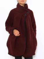 Manteau Cape Bordeaux PRETTY, image 01