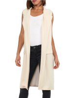 Gilet long beige MODERN FASHION, image 01