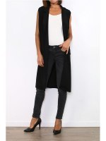 Gilet long noir MODERN FASHION, image 02