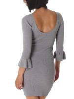 Robe pull Gris SILVIA, image 02