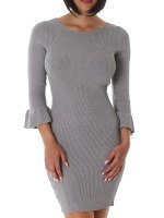Robe pull Gris SILVIA, image 01