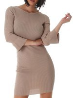 Robe pull Color Taupe SILVIA, image 02