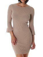 Robe pull Color Taupe SILVIA, image 01