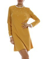 Robe courte color Camel ZAFA, image 01
