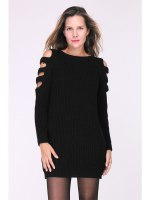 Robe Pull Noire MAGALIE, image 01