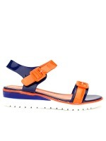 Sandale Bi colors Orange and Royal , image 01