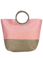 Sac Bi Color Rose Mode Rafia SUN, image 01