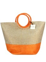 Sac Bi Color Orange Mode Rafia SUN, image 01