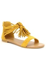 Sandale simili cuir CH CREATION Color Moutarde, image 02