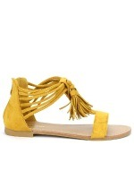 Sandale simili cuir CH CREATION Color Moutarde, image 01