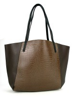 Sac Marron simili cuir ROTINA , image 01
