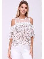 Blouse Rose FLOWERS, image 01