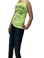 Top Jaune avec message RZ FASHION, image 01