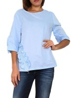 Blouse bleu ciel WHY NOT, image 01