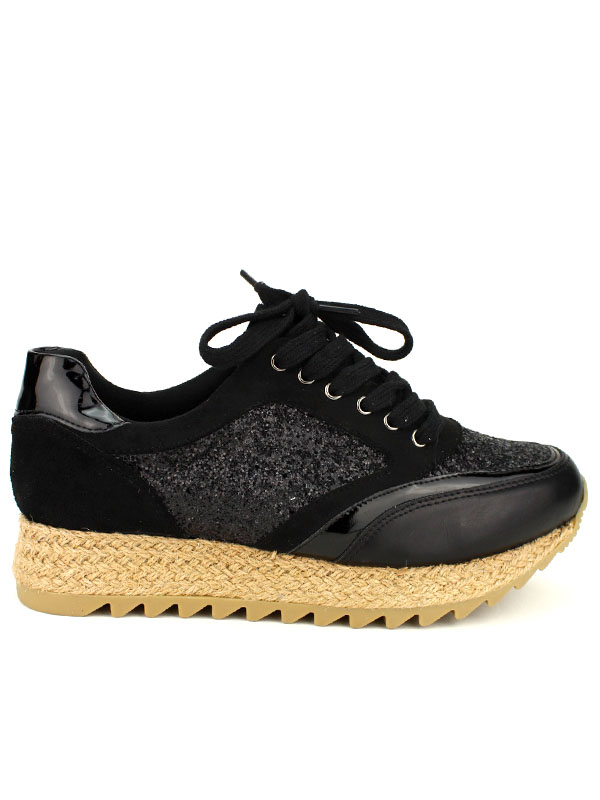 check-out 499f5 08a12 Basket Mode Espadrilles Black CREATION