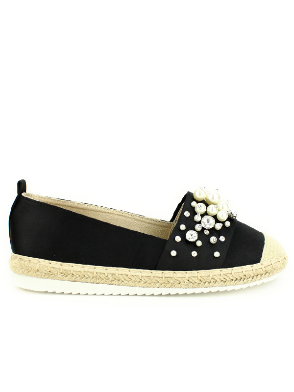 release date pre order undefeated x Espadrille noire Perles PINKAI