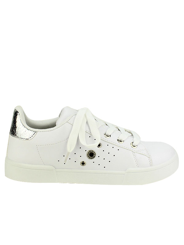 Pour La Exquilly OeilletsOptez Blanches Fashion Sneakers nwOPN80Xk