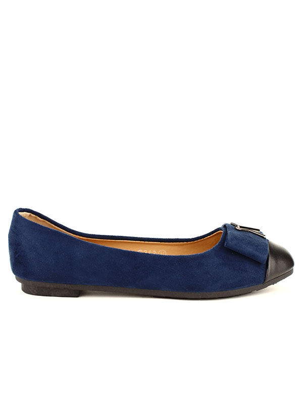 regarder 189e9 cb37b Ballerine Bleu Royal CROSSME