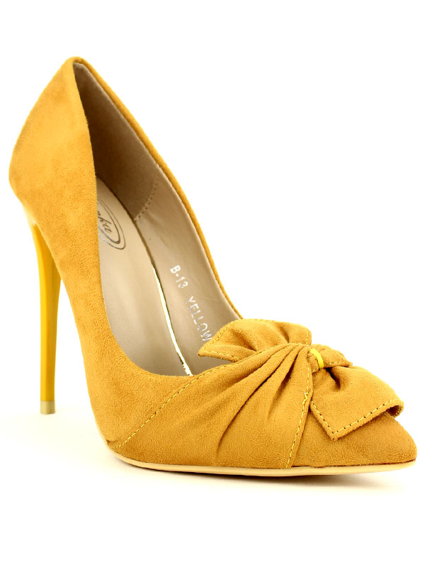 Femme CENDRIYON Escarpin color Moutarde Mulanka Jaune