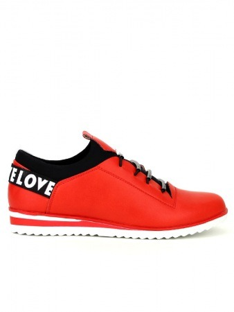 Basket Rouge LOVELOVE Fashion