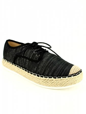 Espadrilles R AND BE Noires, image 02