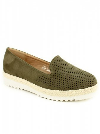 Espadrille color Kaki R AND BE , image 02
