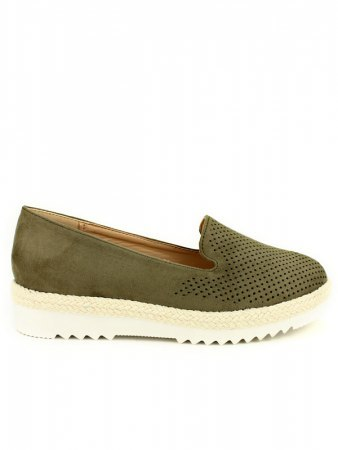 Espadrille color Kaki R AND BE