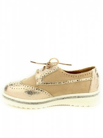 Derbies beige BELLO Strass, image 02